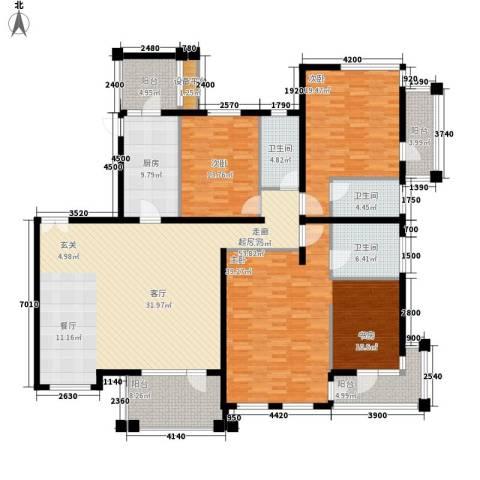伊顿国际3室0厅3卫1厨196.28㎡户型图