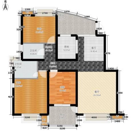 丽湖名居新时代广场3室0厅2卫1厨128.00㎡户型图