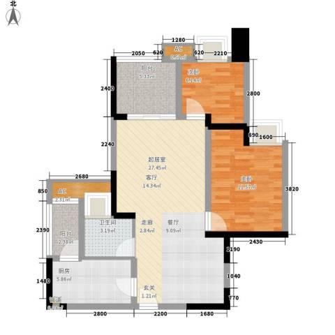 金悦湾2室0厅1卫1厨67.00㎡户型图