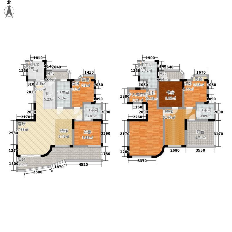 丰和新城194.11㎡B2复式户型5室2厅3卫1厨