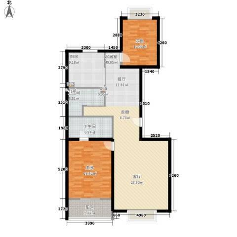博雅德园2室0厅2卫1厨120.00㎡户型图