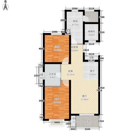 宏景国际2室0厅1卫1厨132.00㎡户型图