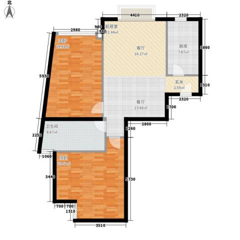 博雅德园2室0厅1卫1厨99.00㎡户型图