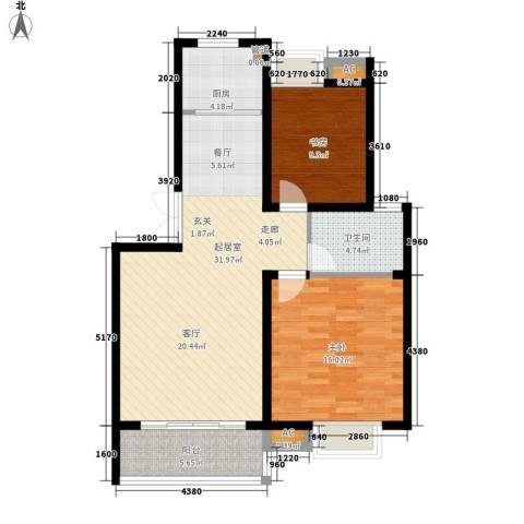 丽阳景苑2室0厅1卫1厨83.26㎡户型图