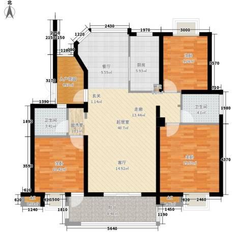 丽阳景苑3室0厅2卫1厨117.75㎡户型图