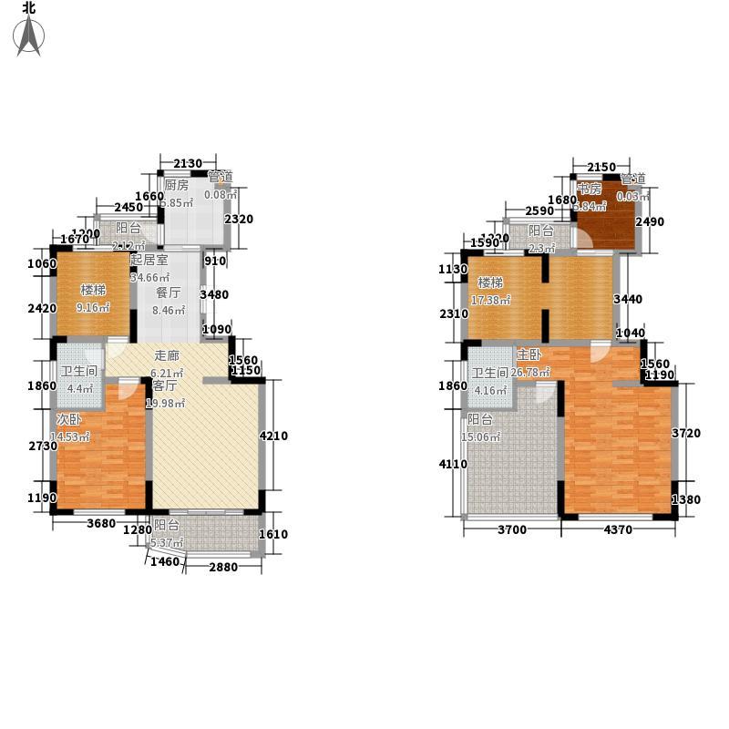 丰和新城170.62㎡A1复式户型3室2厅2卫1厨