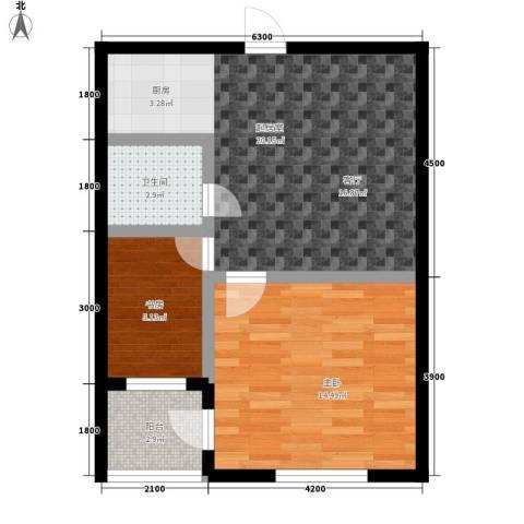 金鼎名城2室0厅1卫0厨75.00㎡户型图