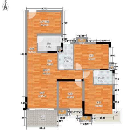 滨江公馆二期3室1厅2卫1厨107.00㎡户型图