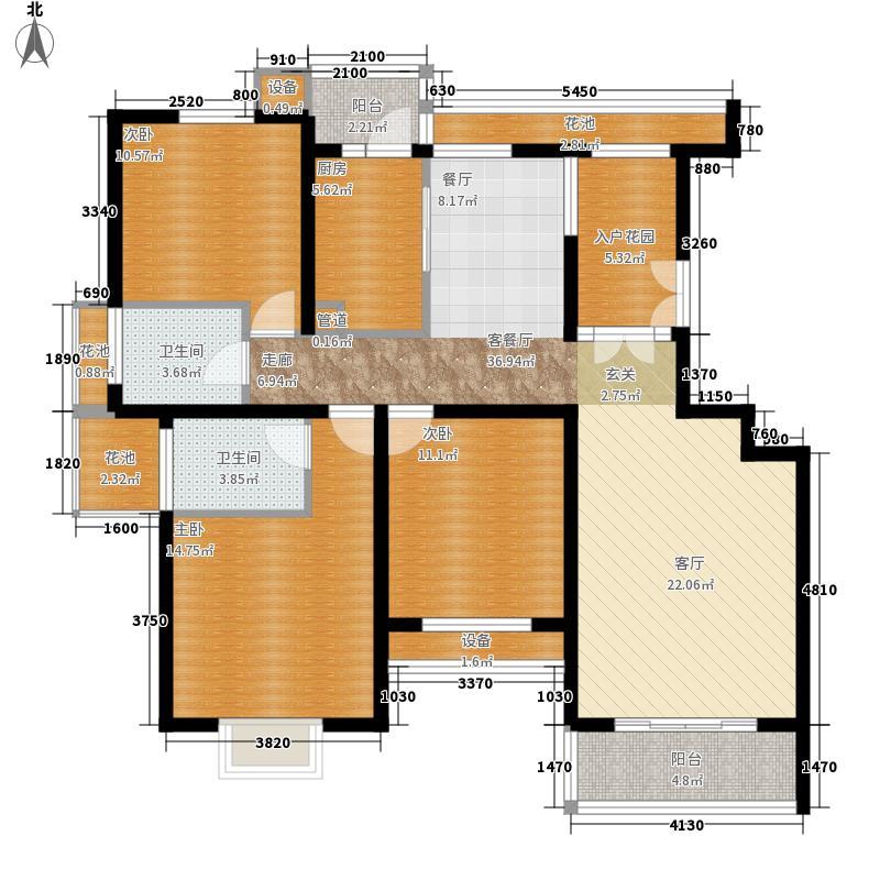 首开水晶城135.00㎡首开水晶城户型图三期D3户型12#、14#、17#3室2厅1卫1厨户型3室2厅1卫1厨