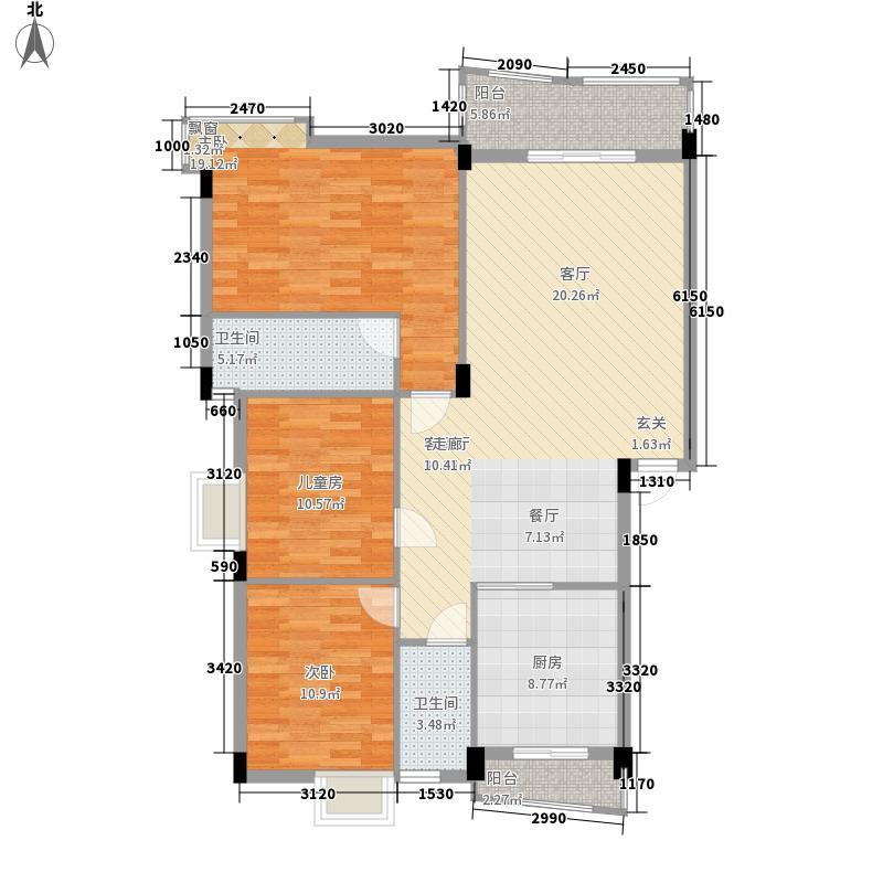 顺宝花园112.00㎡顺宝花园户型图B区1座A型3室2厅2卫1厨户型3室2厅2卫1厨