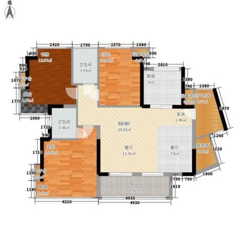 永和新村3室1厅2卫1厨115.00㎡户型图