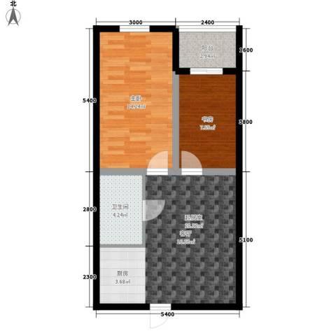 金鼎名城2室0厅1卫0厨65.00㎡户型图
