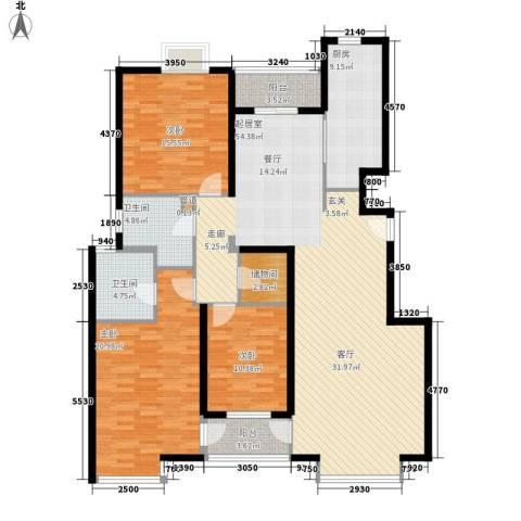 博雅德园3室0厅2卫1厨144.00㎡户型图