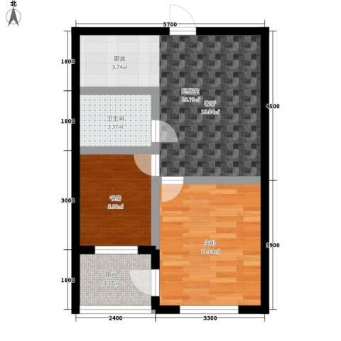 金鼎名城2室0厅1卫0厨70.00㎡户型图