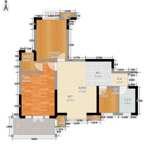 黄州宇济一号1室0厅2卫1厨110.00㎡户型图