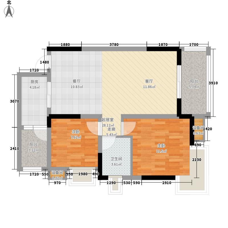蓝色星空69.15㎡狮子座2/3号楼3面积6915m户型