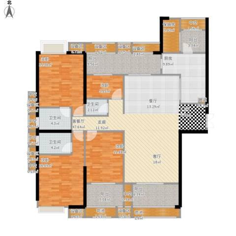 ECO城4室1厅3卫1厨225.00㎡户型图