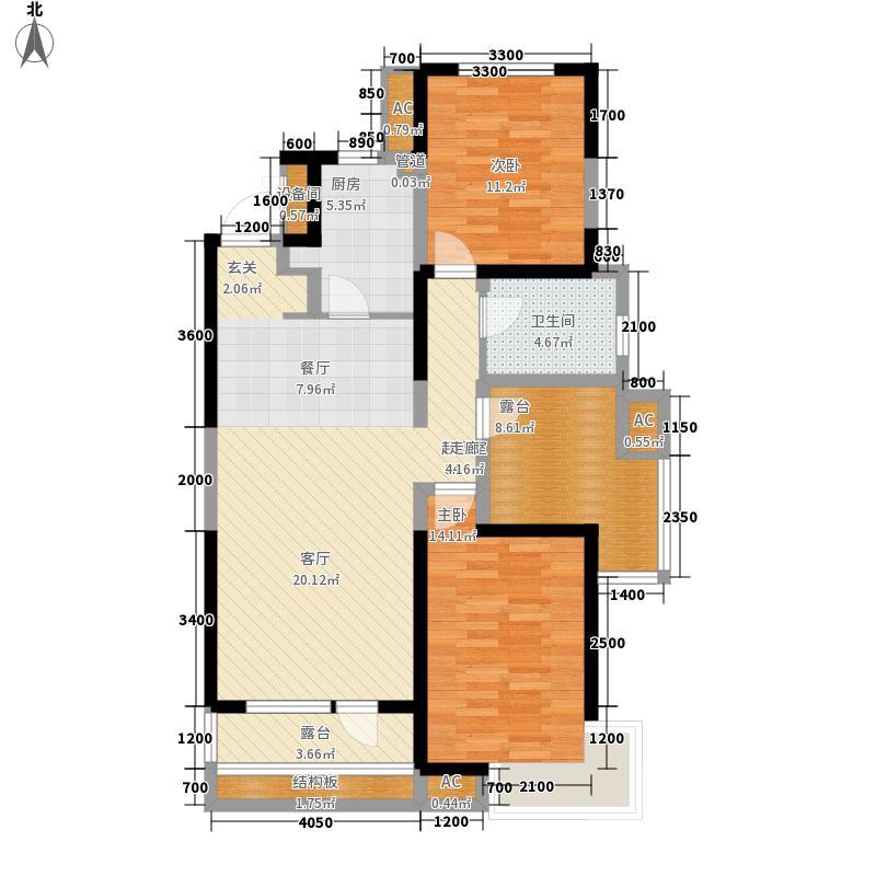 首创国际城105.00㎡首创国际城户型图三期5号楼-02户型2室2厅1卫户型2室2厅1卫