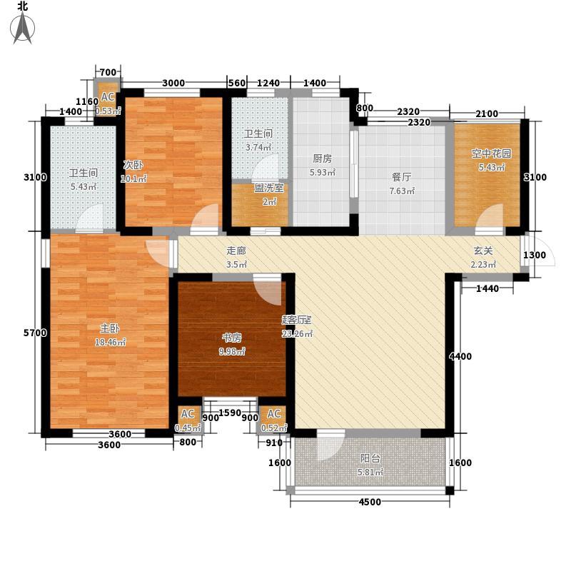 首创国际城157.00㎡首创国际城户型图三期7号楼-02户型3室2厅2卫户型3室2厅2卫