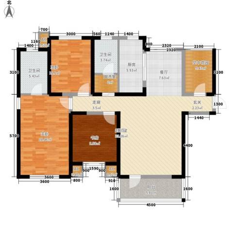 首创・国际城3室0厅2卫1厨157.00㎡户型图