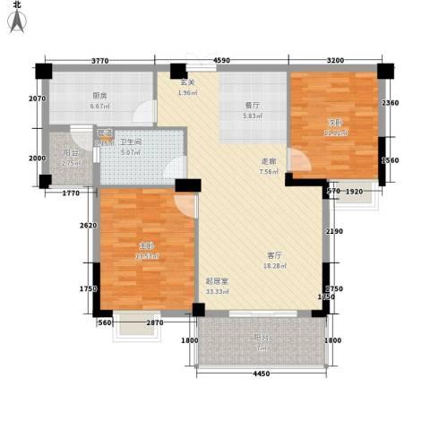 路安花苑2室0厅1卫1厨89.00㎡户型图