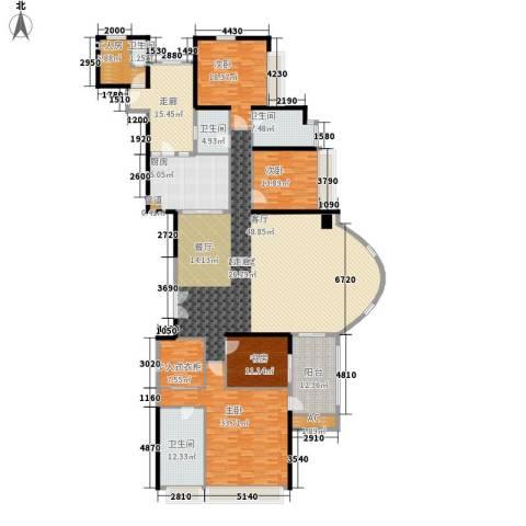 中海观园国际4室0厅4卫1厨277.00㎡户型图