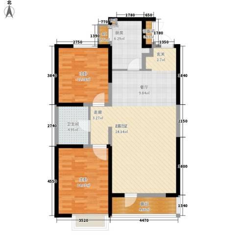 首创・国际城2室0厅1卫1厨95.00㎡户型图