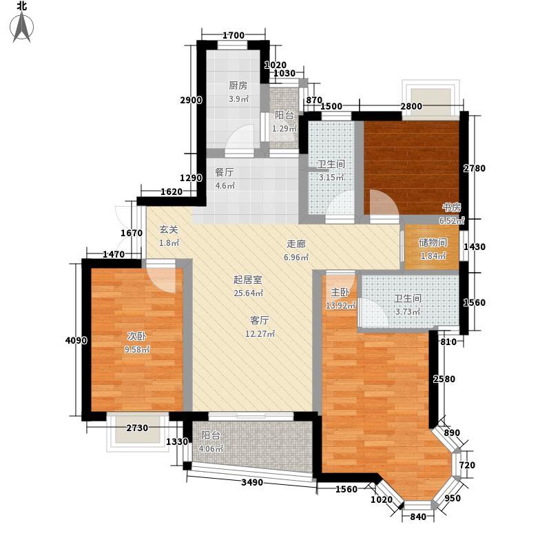 红菱苑户型图3室2厅2卫1厨