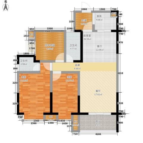 黄州宇济一号2室0厅2卫1厨128.00㎡户型图