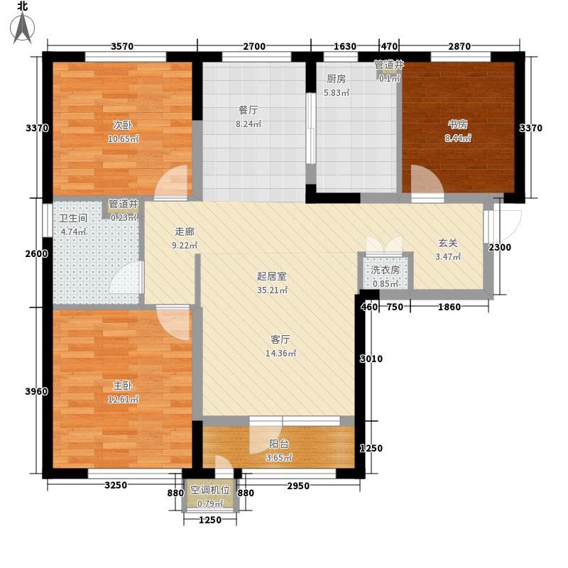 万科现在城95.00㎡1#楼C户型3室2厅