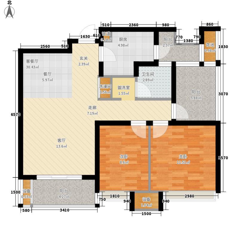 金地格林春岸92.00㎡5、6#楼1单面积9200m户型