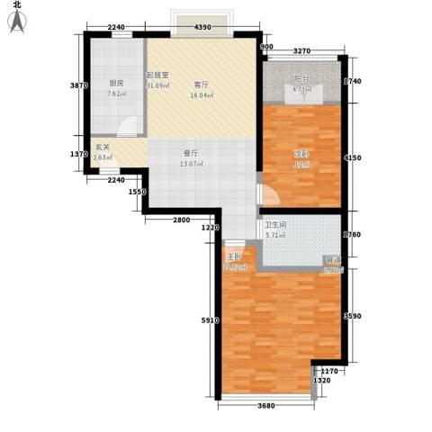 博雅德园2室0厅1卫1厨94.00㎡户型图