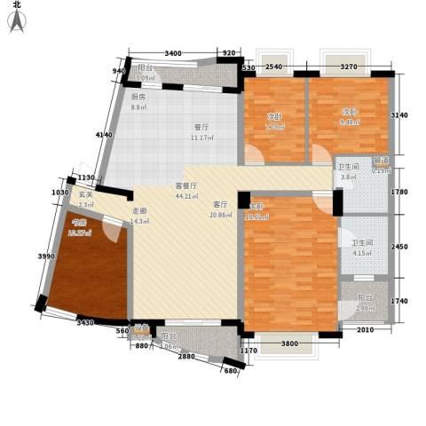 华立天地豪园4室1厅2卫0厨124.00㎡户型图