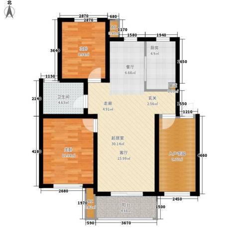 文广苑2室0厅1卫1厨88.00㎡户型图