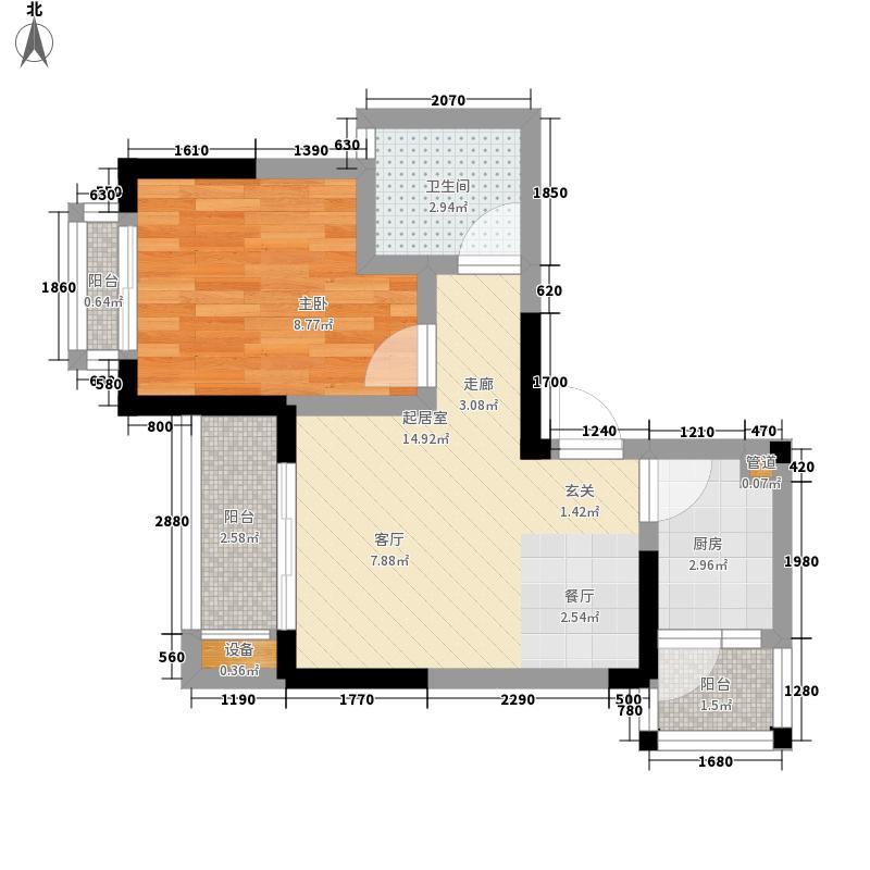金阳牛津街小区38.70㎡4栋-021面积3870m户型
