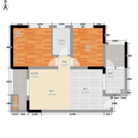 御锦江都2室0厅1卫1厨95.00㎡户型图