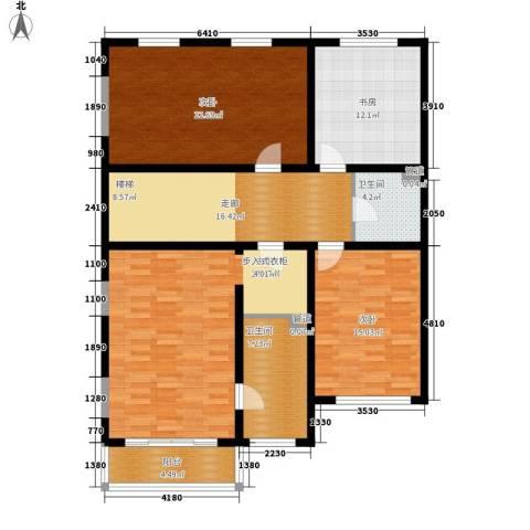 济南玫瑰园新城4室0厅2卫0厨125.00㎡户型图