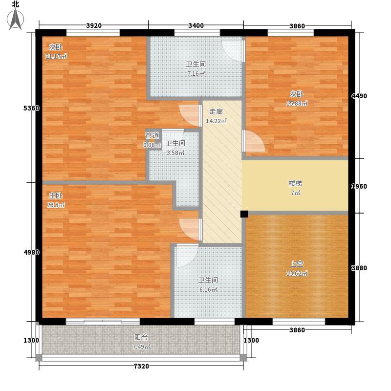 济南玫瑰园新城265.88㎡济南玫瑰园新城户型图联排别墅A二层4室4厅5卫户型4室4厅5卫