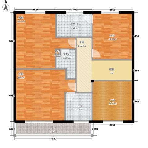 济南玫瑰园新城3室0厅3卫0厨125.00㎡户型图