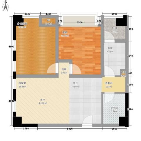 御锦江都1室0厅1卫1厨88.00㎡户型图