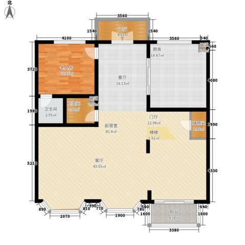 济南玫瑰园新城1室0厅2卫1厨142.84㎡户型图