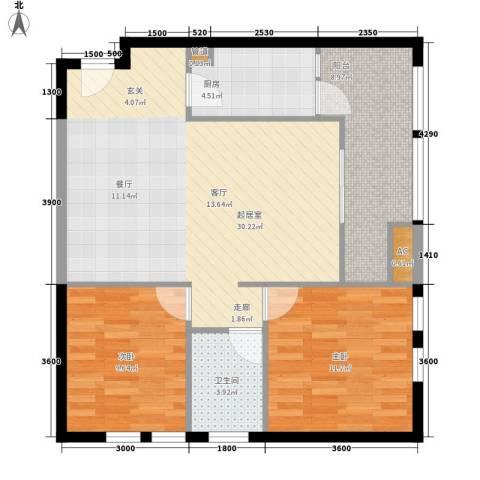 御锦江都2室0厅1卫1厨96.00㎡户型图