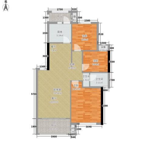 城市森林3室0厅1卫1厨113.00㎡户型图