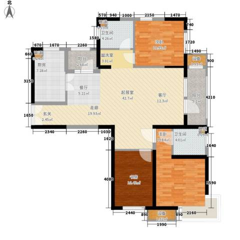 天津湾海景文苑3室0厅2卫1厨145.00㎡户型图