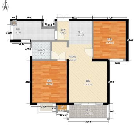 东升园2室0厅1卫1厨94.00㎡户型图