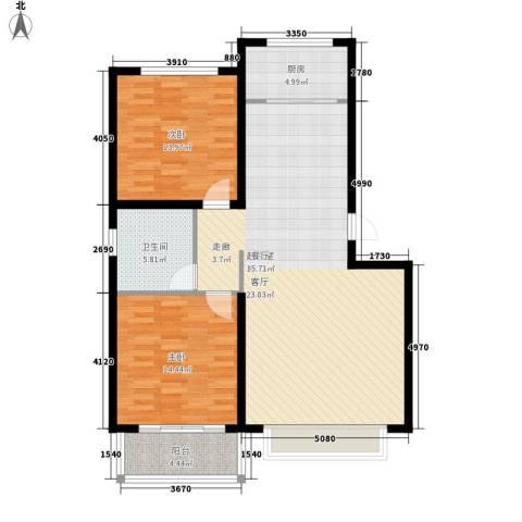 济南玫瑰园新城2室0厅1卫1厨97.00㎡户型图