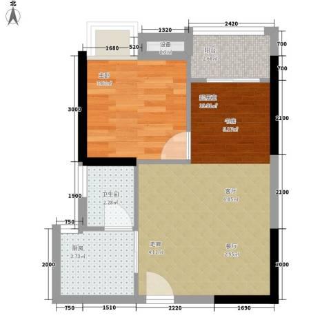 南源居1室0厅1卫1厨39.00㎡户型图