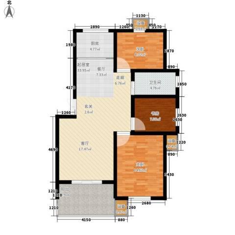 长运家园南苑3室0厅1卫1厨101.00㎡户型图