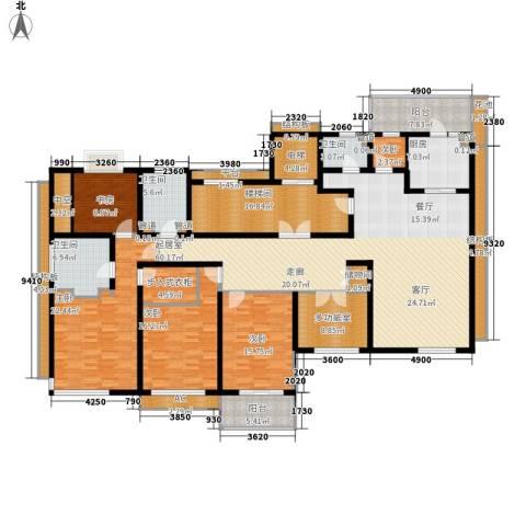 香滨半岛5室0厅3卫1厨242.00㎡户型图