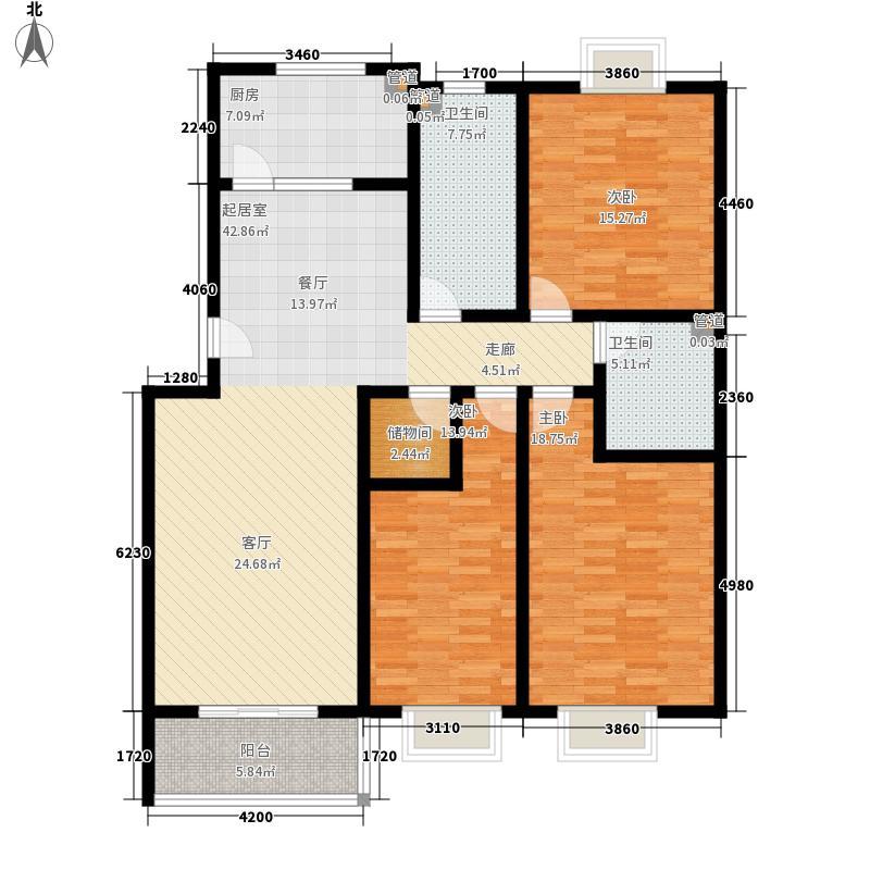 山景明珠花园149.02㎡山景明珠花园户型图三室两厅两卫户型3室2厅2卫户型3室2厅2卫